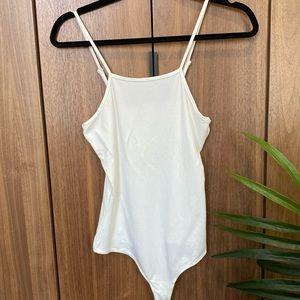 Tops - Ivory spaghetti strap bodysuit